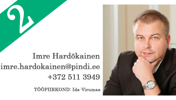 8626383fa22 Teise koha sai Imre Hardõkainen. Imre töötab Pindi Kinnisvaras ja tegeleb  peamiselt äri- kui ka elukondliku kinnisvara müügi-, üüri- ja ostutehingute  ...